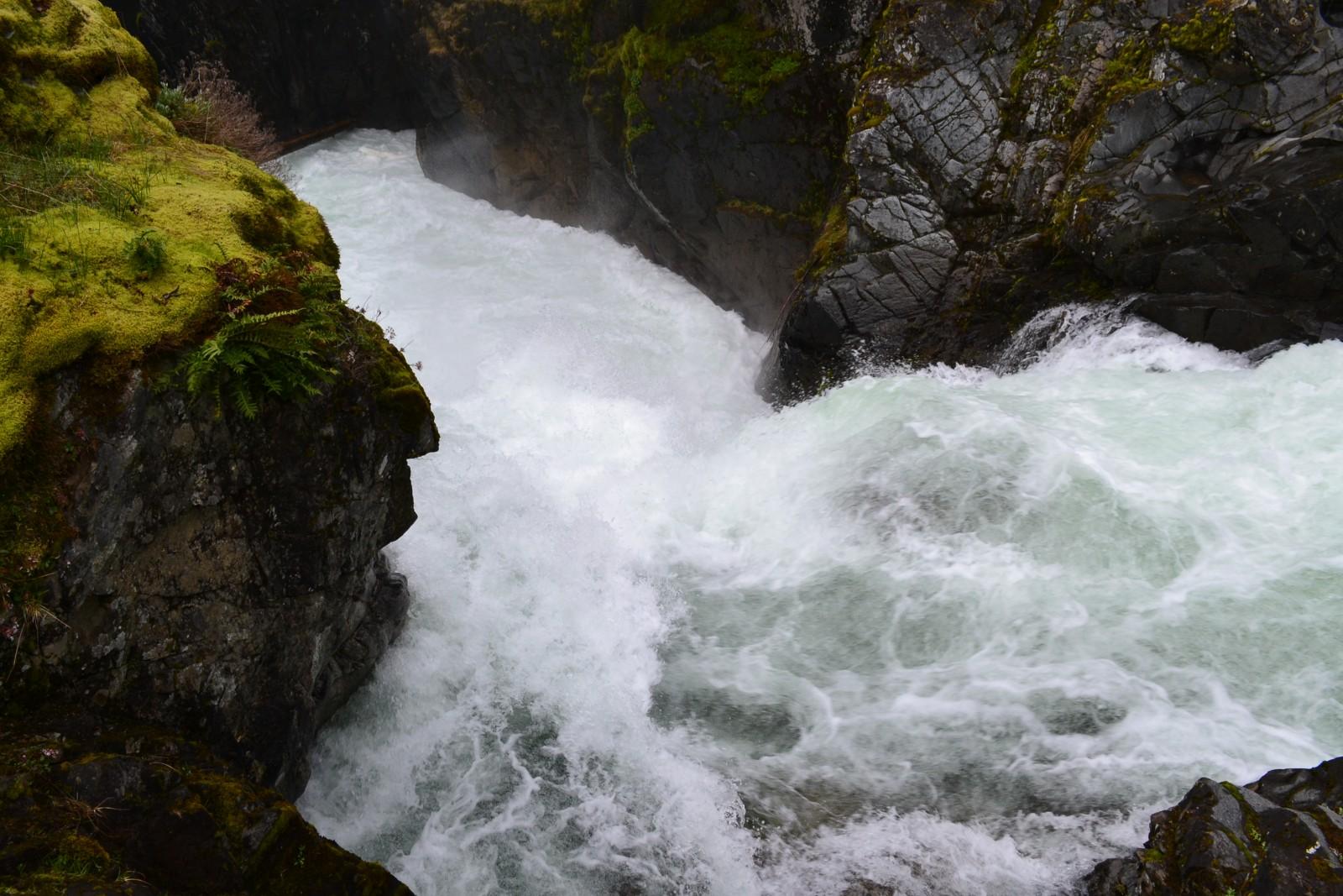 Rwacy gorski potok, wyspa Vancouver