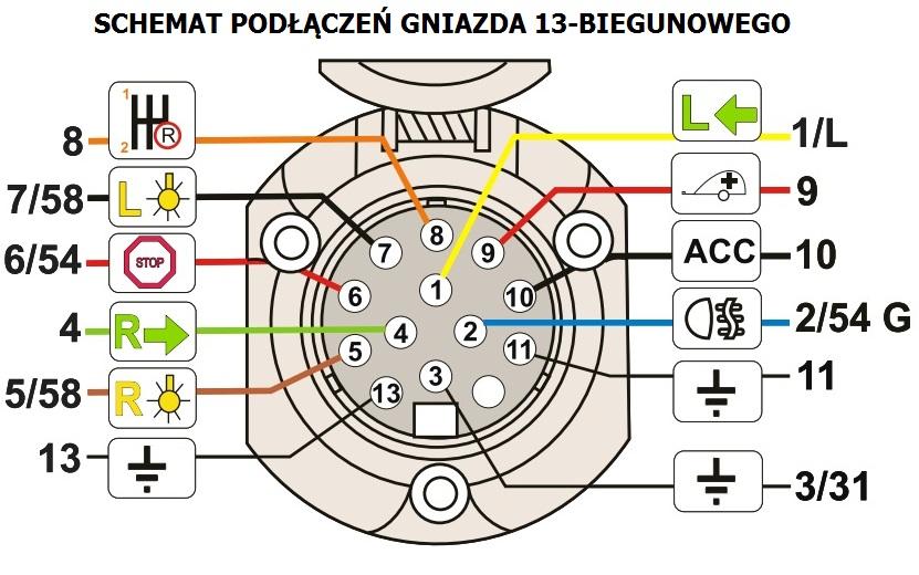 Schemat Wtyczki 13 Pin Elektryka I Elektronika